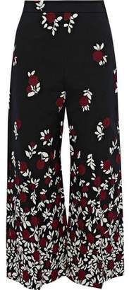 Lela Rose Cotton-Blend Jacquard Culottes