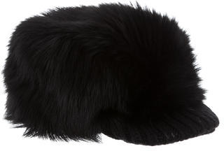 prada Prada Wool Fur-Trimmed Trapper Hat