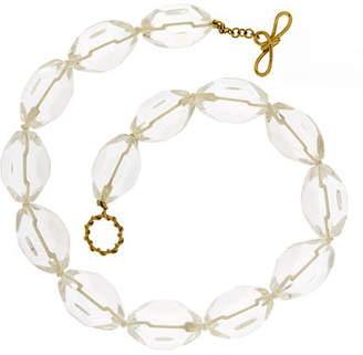 Valentino Magro 18k Cracked Crystal Octagonal Necklace