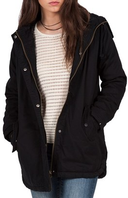 Volcom Good Side Cotton Parka $119.50 thestylecure.com