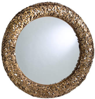 Global Views Gypsy Coin Antiqued Brass Mirror