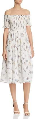 Aqua Floral Smocked Off-the-Shoulder Dress - 100% Exclusive