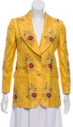 Gucci 2016 Silk Floral Blazer