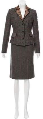 Etro Wool Tweed Skirt Suit
