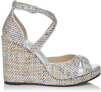 Jimmy Choo Alanah 105 Textured Wedge Sandals