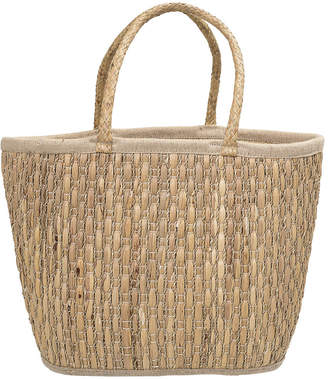 Bloomingville - Lined Seagrass Basket - Natural