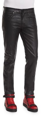 J Brand Tyler Painted Depth Coated Pants, Black $258 thestylecure.com