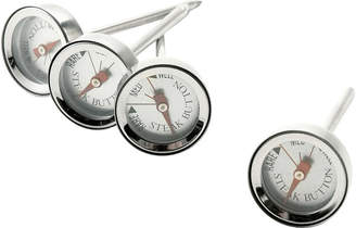 Charcoal Companion Set of 4 Reusable Steak-Button Thermometers