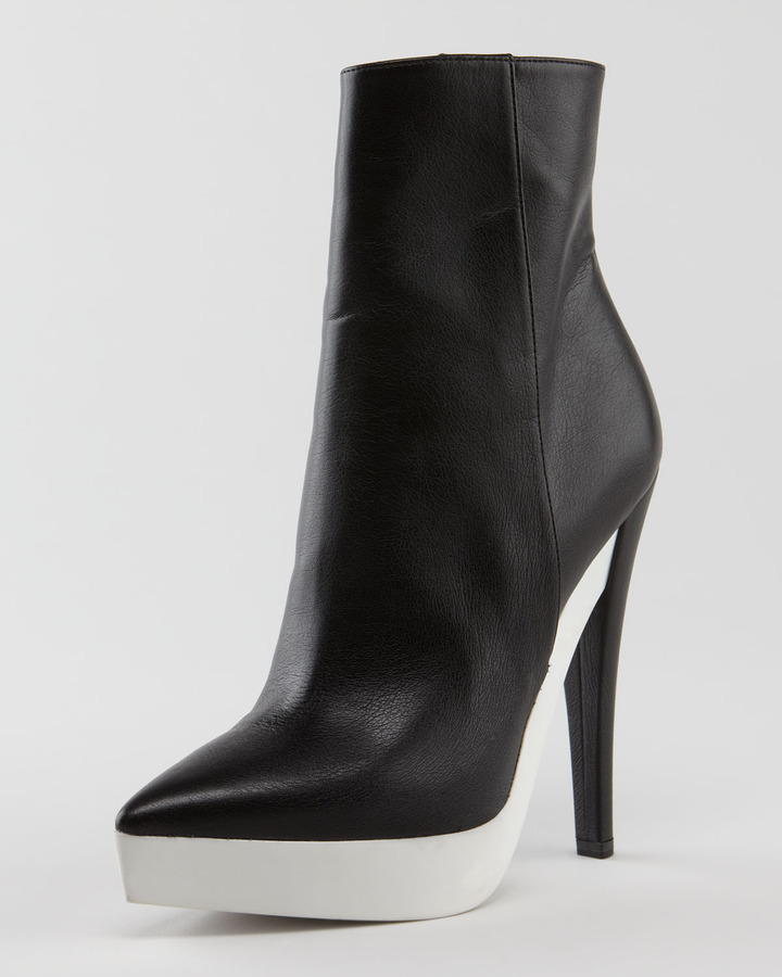 Stella McCartney Rubber-Platform Faux Leather Boot