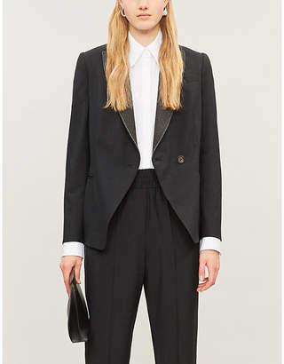 Brunello Cucinelli Sparkle-lapel wool-blend blazer