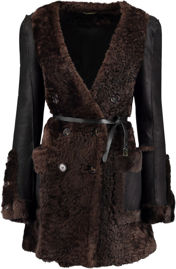 Chloé  Chloé Reversible shearling and leather coat