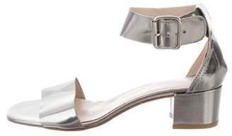 AGL Metallic Ankle Strap Sandals