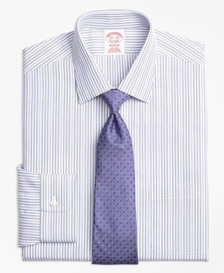Brooks Brothers Madison Classic-Fit Dress Shirt, Non-Iron Alternating Double Stripe
