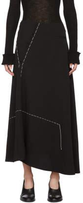 Y's Ys Black Asymmetric Skirt