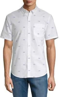 Original Penguin Argyle-Print Button-Down Shirt