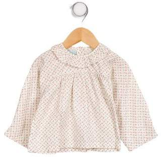 Papo d'Anjo Girls' Printed Collared Top w/ Tags