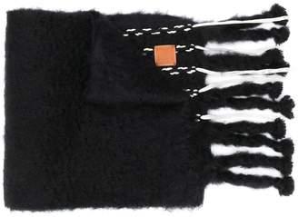 Loewe two-tone fringed chunky scarf