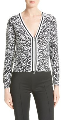 Women's Tracy Reese Print Tipped Cotton Cardigan $228 thestylecure.com