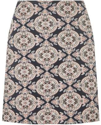 Dorothy Perkins Womens Blue and Pink Jacquard Mini Skirt