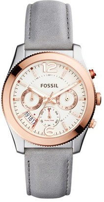Fossil 'Perfect Boyfriend' Multifunction Leather Strap Watch, 39mm $145 thestylecure.com