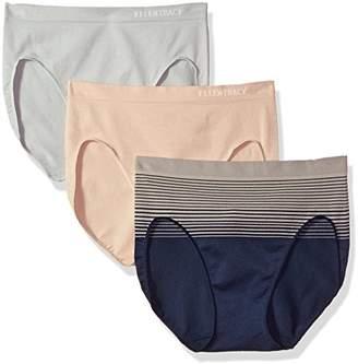 Ellen Tracy Women's 3 Pack Seamless Gradient Hi Cut Panty