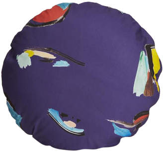 Fort Makers Purple Pod Circle Pillow