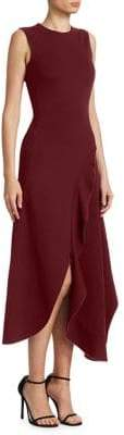 Victoria Beckham Ruffle Asymmetric Dress