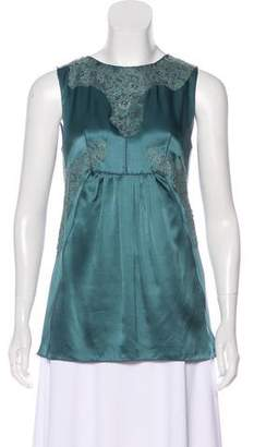 Dolce & Gabbana Lace-Accented Sleeveless Top