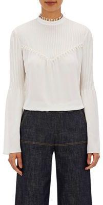 Derek Lam Women's Pintucked Blouse-WHITE $995 thestylecure.com
