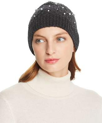 Minnie Rose Embellished Cable-Knit Beanie