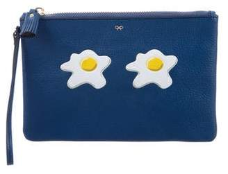 Anya Hindmarch Sunny Side Up Leather Wristlet