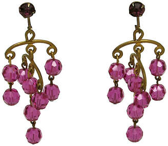 One Kings Lane Vintage Faceted Glass Chandelier Earrings - Thanks for the Memories