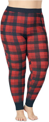 Cuddl Duds Plus Size Stretch Thermal Leggings With Pockets
