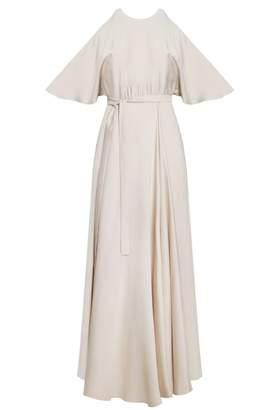 UNDRESS - Miridical Cream Cold-Shoulder Christening Maxi Dress