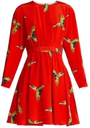Diane von Furstenberg Aurora Phoenix Print Silk Mini Dress - Womens - Red Print