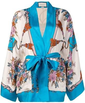 Gucci floral print kimono jacket