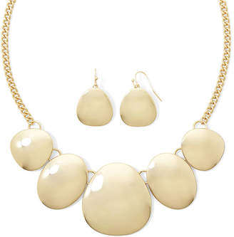 Liz Claiborne Gold-Tone Shaky Disc Necklace and Earring Set