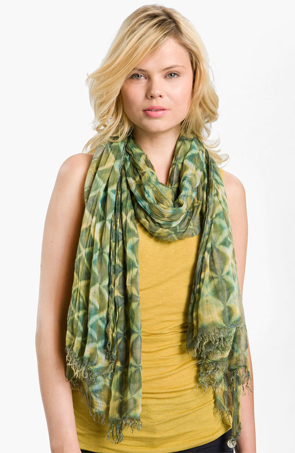 Brightly Twisted Snake Print Scarf