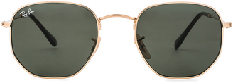 Ray-Ban Hexagon Sunglasses $150 thestylecure.com