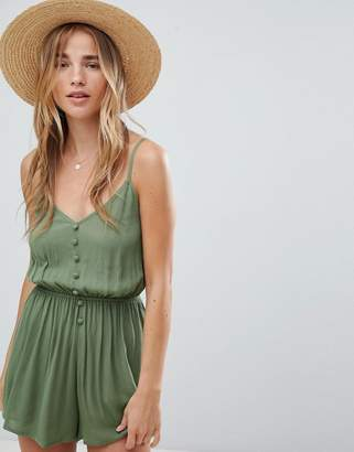 Asos (エイソス) - ASOS DESIGN romper in crinkle with button front