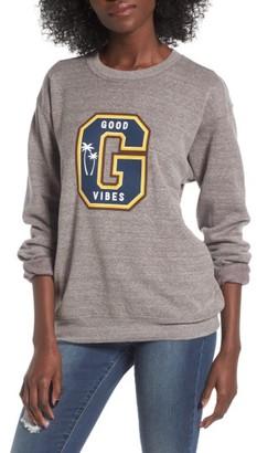 Women's Sub_Urban Riot Good Vibes Varsity Sweatshirt $58 thestylecure.com