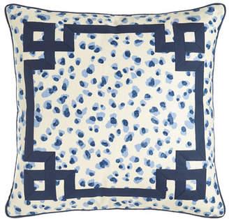 "Jane Wilner Designs Ellie Leopard-Spot Pillow, 20""Sq."