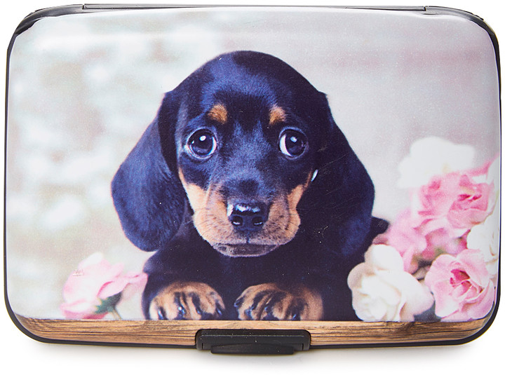 Gray & Black Dachshund Armored Wallet