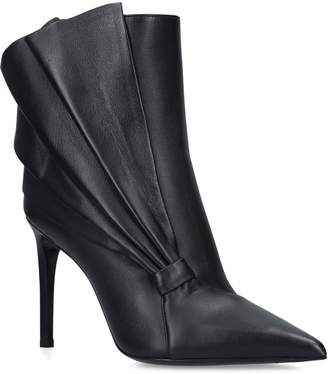 Balmain Leather Ness Ankle Boots