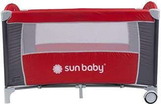 Sun Baby Sweet Dreams Basic Travel Crib, Grey/Red