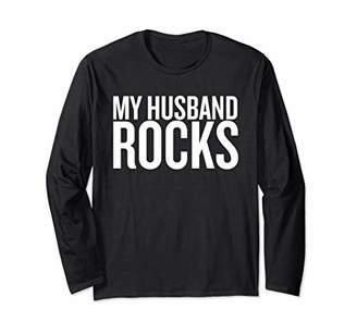 My Husband Rocks T-shirt Halloween Christmas Funny Cool Hol