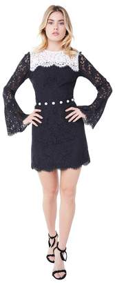 Juicy Couture Colorblock Lace Bell Sleeve Dress