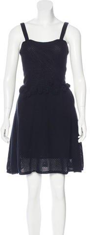 RED ValentinoRed Valentino Sleeveless Open Knit Dress