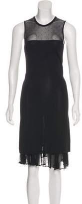 DsquaredÂ2 Sheer Midi Dress Black DsquaredÂ2 Sheer Midi Dress