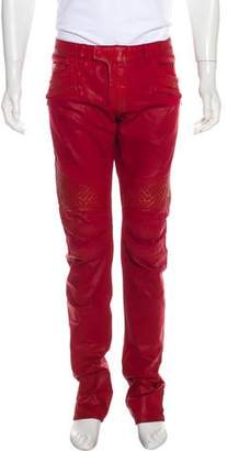 Balmain Coated Slim Biker Jeans
